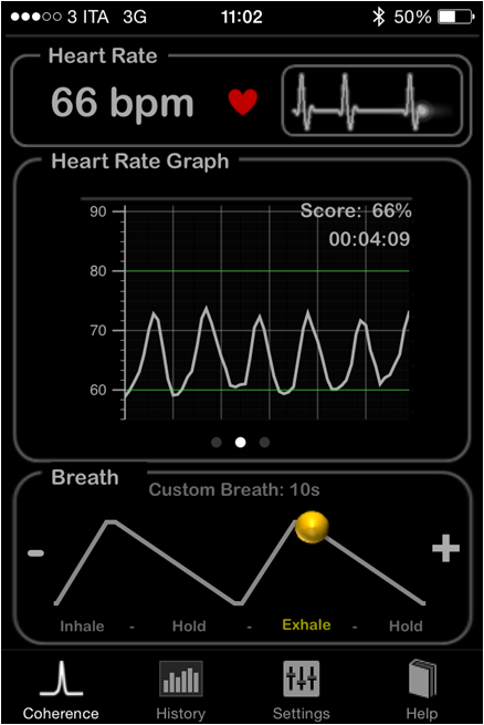 HeartRate+ Heart Rate Variability HRV Coherence Respiratory Arrithmia RSA 4s