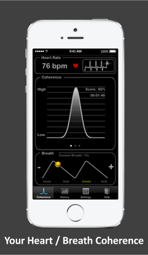 Heart Rate Plus: Heart Breath coherence